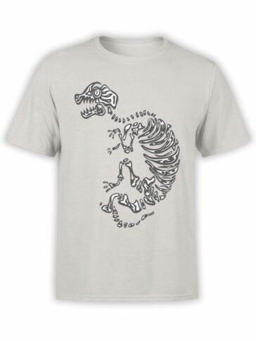 0935 Cool Shirt Dinosaur Skeleton Front