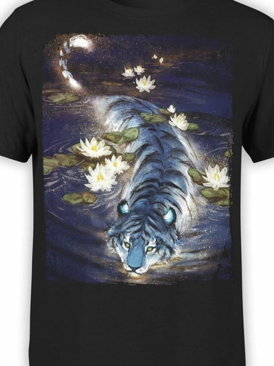 0943 Cool T Shirt Tiger Front Color