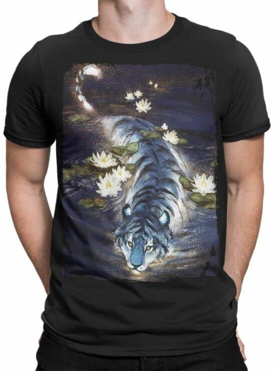 0943 Cool T Shirt Tiger Front Man