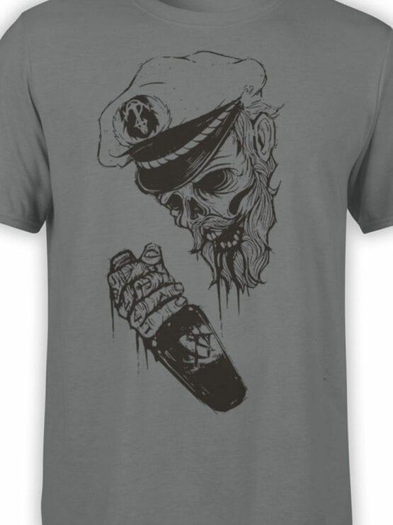 0947 Pirate Shirt Captain Death Front Color