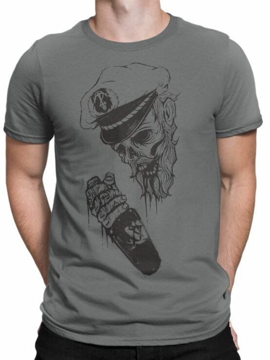 0947 Pirate Shirt Captain Death Front Man