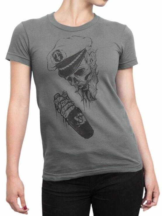 0947 Pirate Shirt Captain Death Front Woman