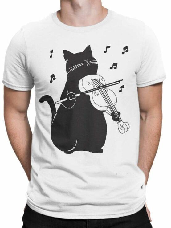 0951 Cool T Shirt Meowsic Front Man
