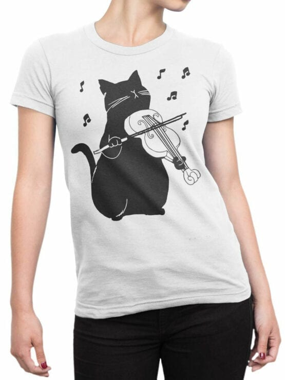 0951 Cool T Shirt Meowsic Front Woman