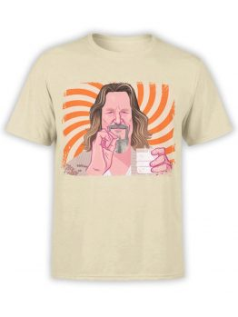 0955 The Big Lebowski T Shirt Dude Front