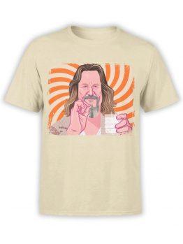 0955 The Big Lebowski T Shirt Dude Front