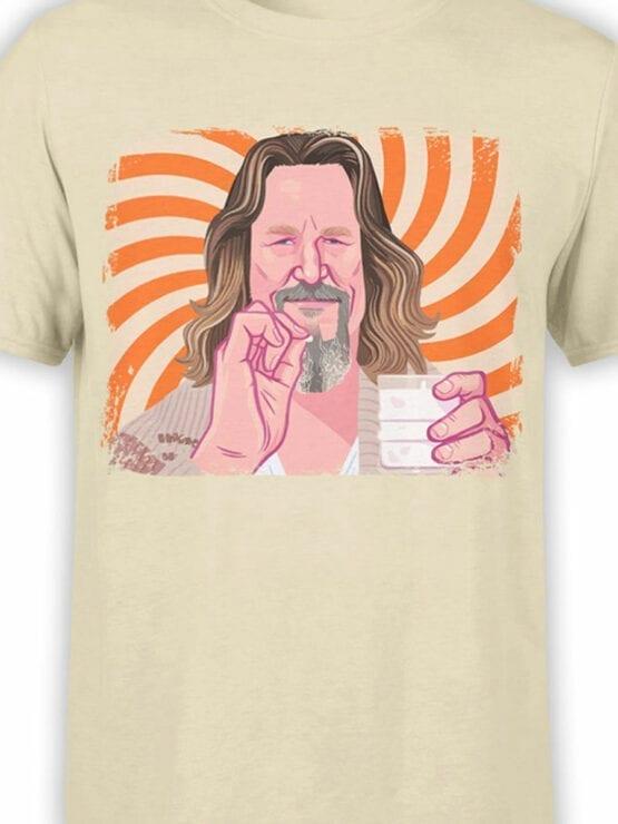 0955 The Big Lebowski T Shirt Dude Front Color