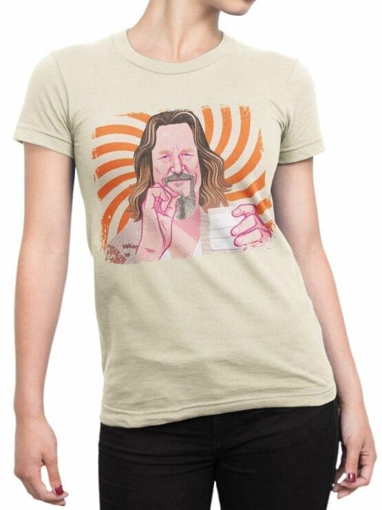 0955 The Big Lebowski T Shirt Dude Front Woman