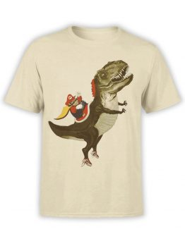 0957 Funny T Shirt Mario T Rex Front