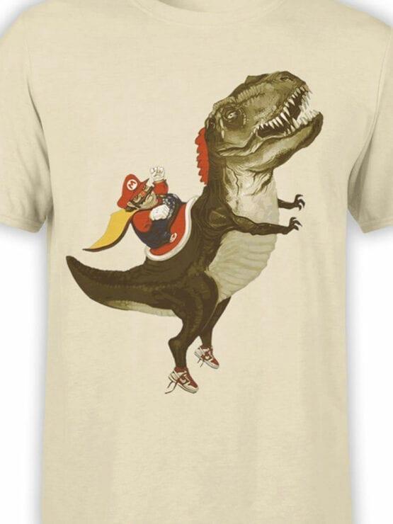 0957 Funny T Shirt Mario T Rex Front Color