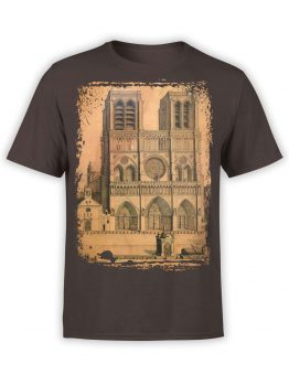 0959 Notre Dame de Paris T Shirt Drawing Front