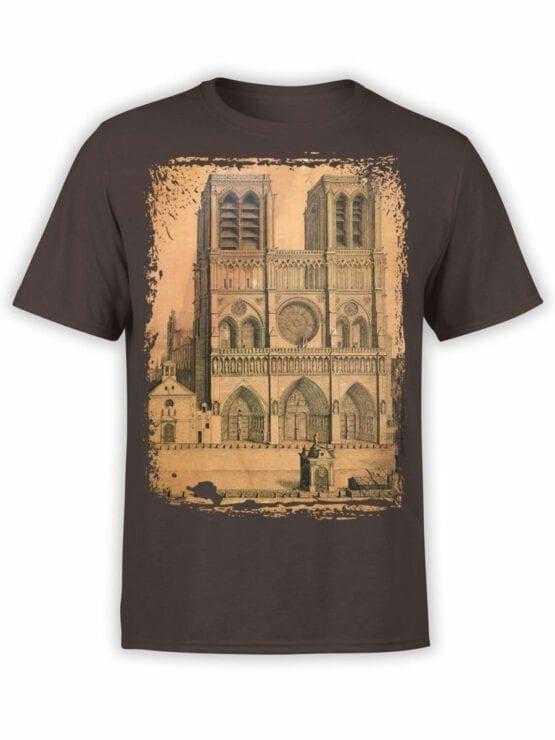 0959 Notre Dame de Paris T Shirt Drawing Front