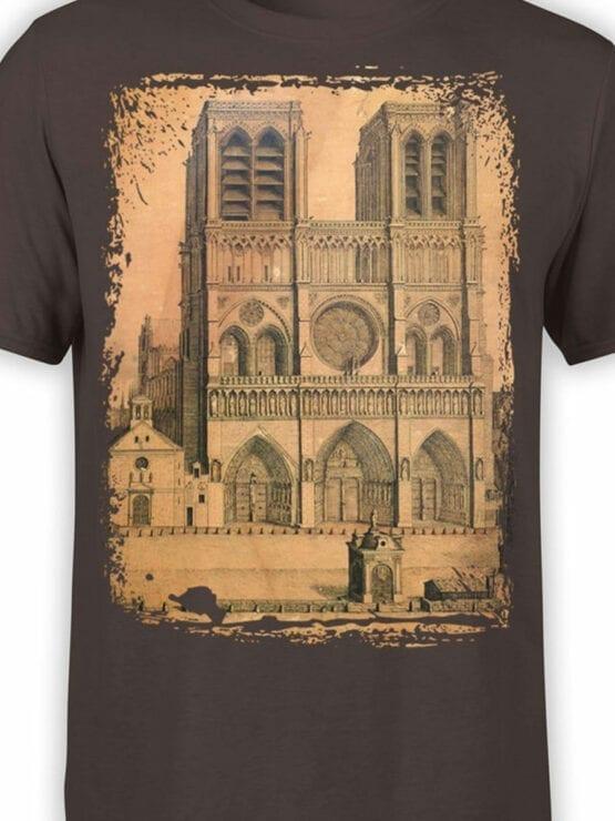 0959 Notre Dame de Paris T Shirt Drawing Front Color