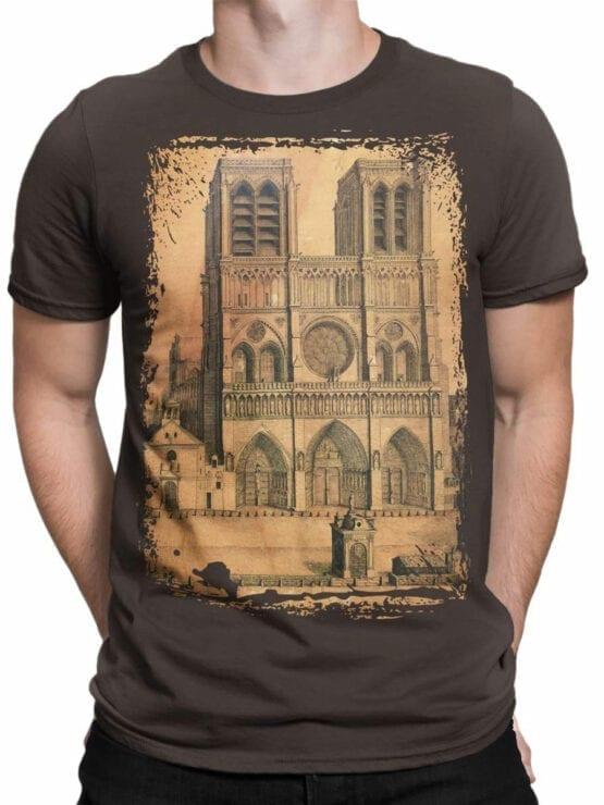 0959 Notre Dame de Paris T Shirt Drawing Front Man
