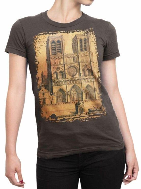 0959 Notre Dame de Paris T Shirt Drawing Front Woman