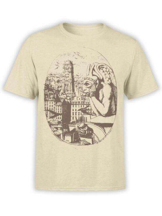 0961 Notre Dame de Paris T Shirt Gargoyle Front