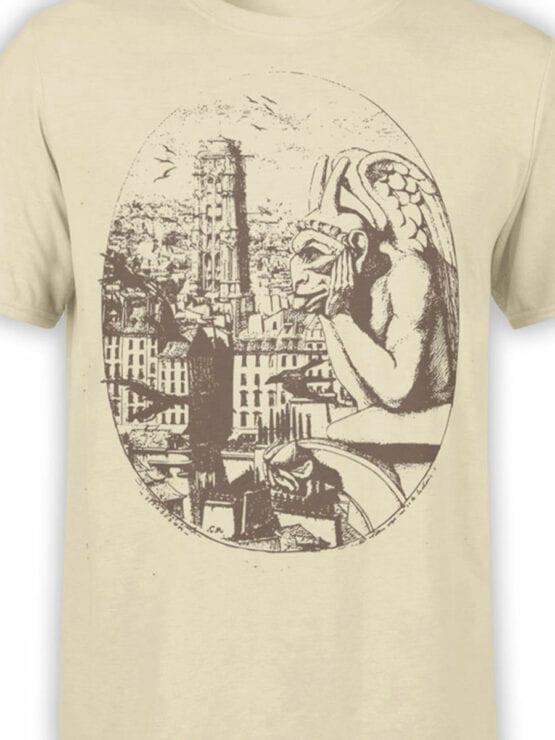 0961 Notre Dame de Paris T Shirt Gargoyle Front Color