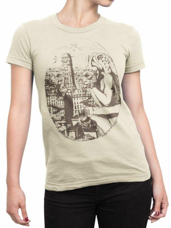 0961 Notre Dame de Paris T Shirt Gargoyle Front Woman