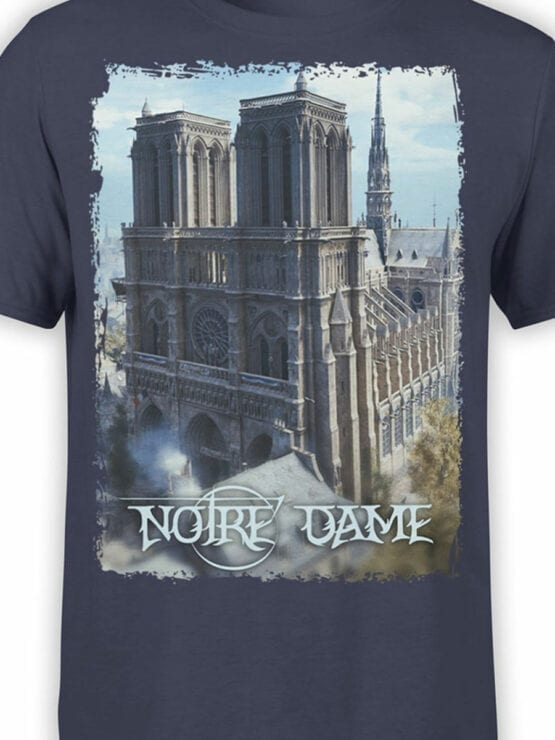 0962 Notre Dame de Paris T Shirt ND Front Color