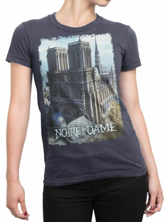 0962 Notre Dame de Paris T Shirt ND Front Woman