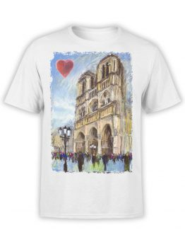 0963 Notre Dame de Paris T Shirt ND Front