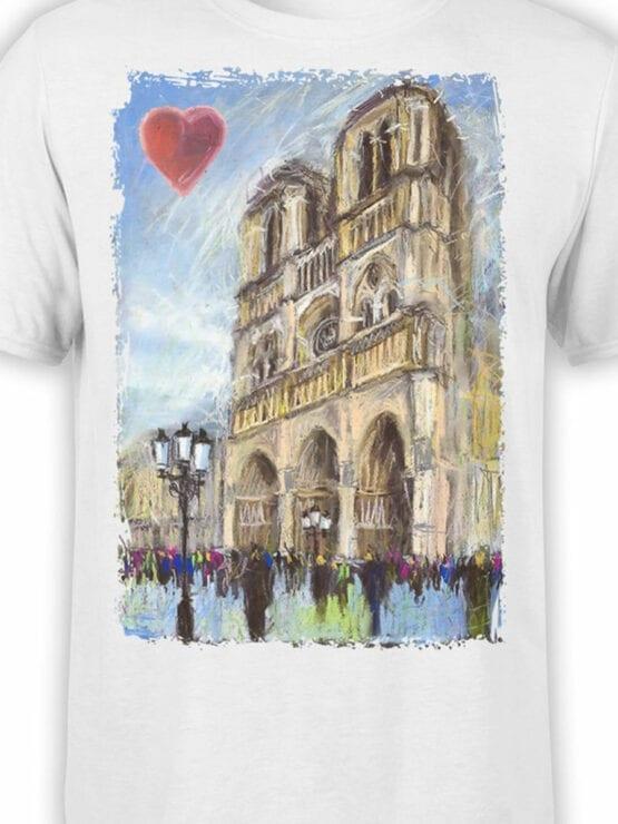 0963 Notre Dame de Paris T Shirt ND Front Color