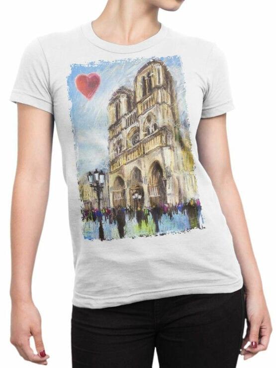 0963 Notre Dame de Paris T Shirt ND Front Woman