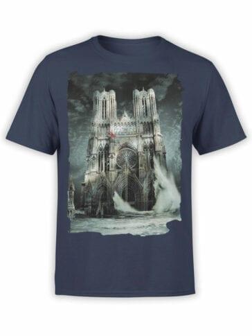 0964 Notre Dame T Shirt Flood Front