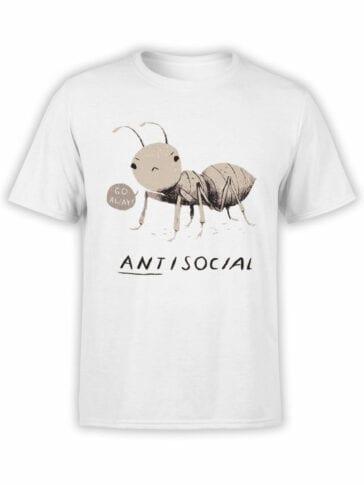 0969 Funny Shirts ANTisocial Front