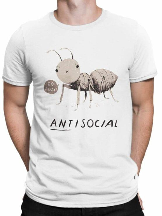 0969 Funny Shirts ANTisocial Front Man