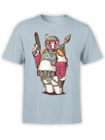 0972 Star Wars T Shirts Boba Big Front