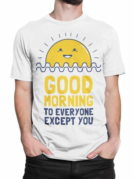 0974 Funny T Shirts Good Morning Front Man 2