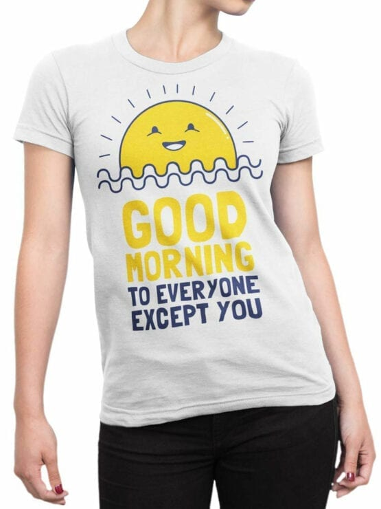 0974 Funny T Shirts Good Morning Front Woman