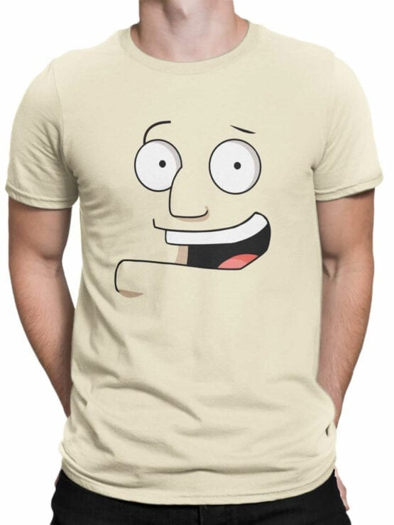 0975 American Dad T Shirt Stan Smith Face Front Man