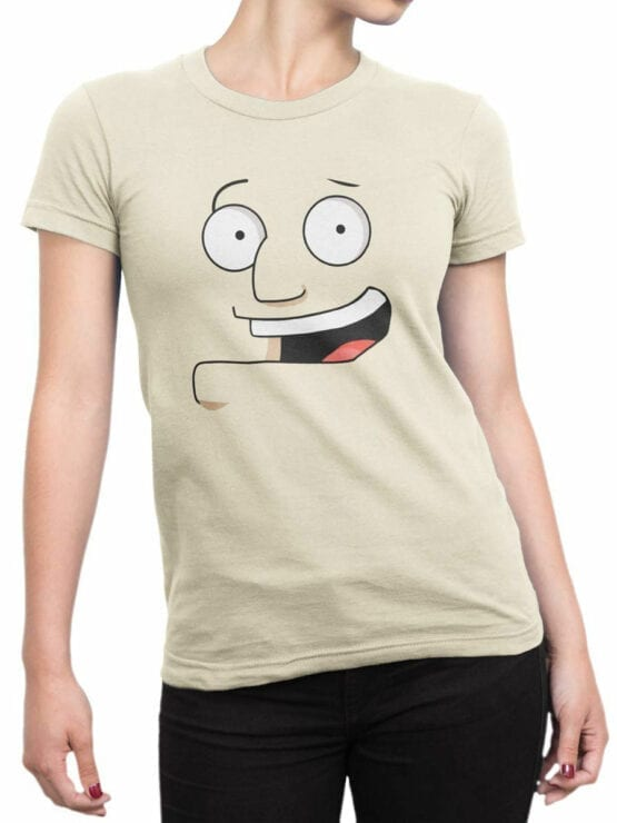 0975 American Dad T Shirt Stan Smith Face Front Woman