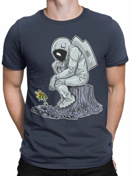 0978 NASA T Shirts The Thinker Front Man