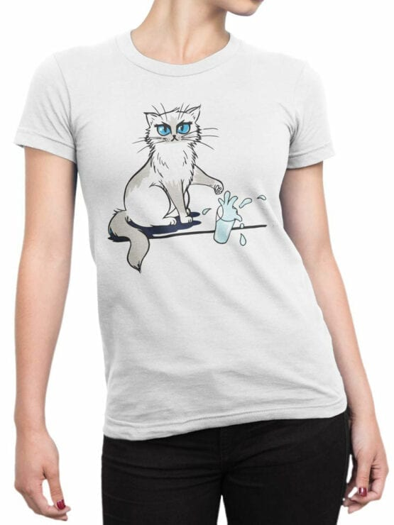 0981 Cat T Shirts No Front Woman