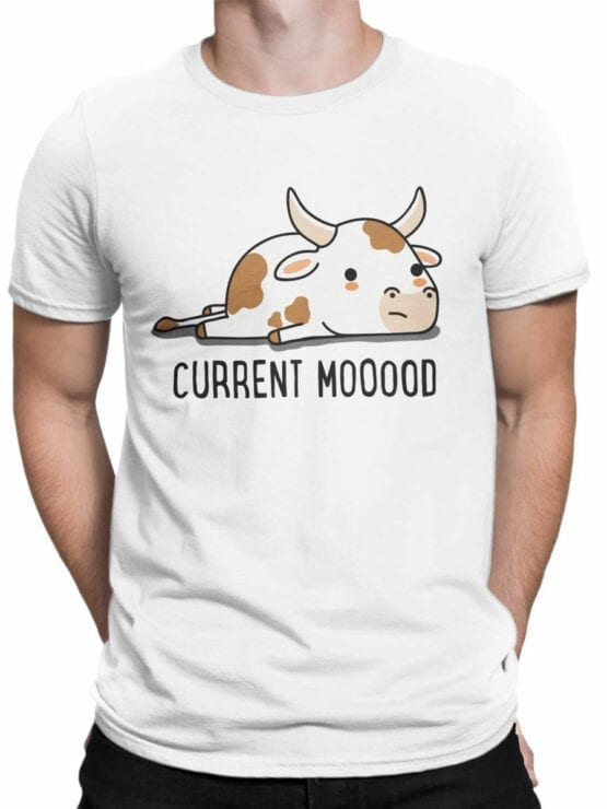 0982 Funny T Shirt Current Moood Front Man
