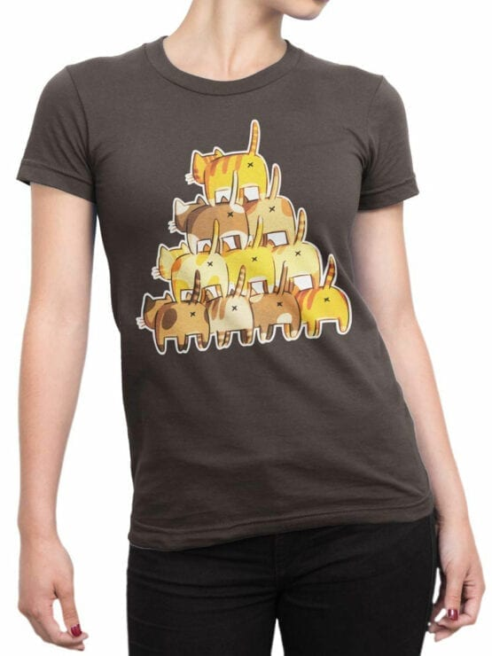 0983 Cat Shirts Butt Pyramid Front Woman