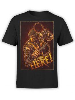 1005 Mortal Kombat T Shirt Scorpion Front