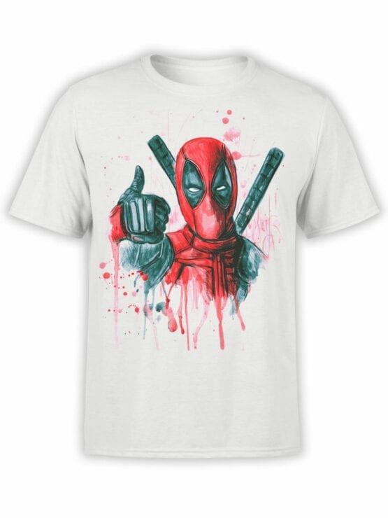 1007 Deadpool T Shirt Thumbs Up Front