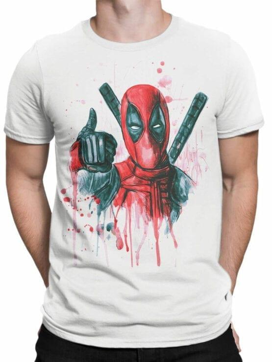 1007 Deadpool T Shirt Thumbs Up Front Man