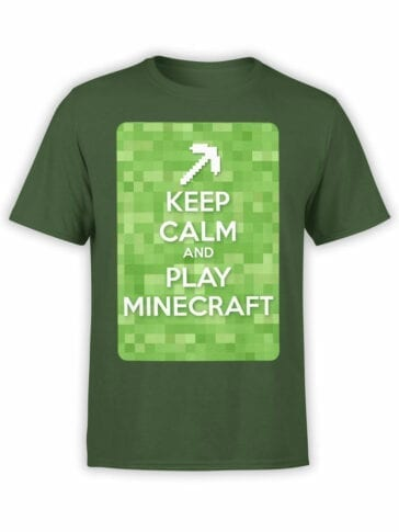 1008 Minecraft T Shirt Calm Front