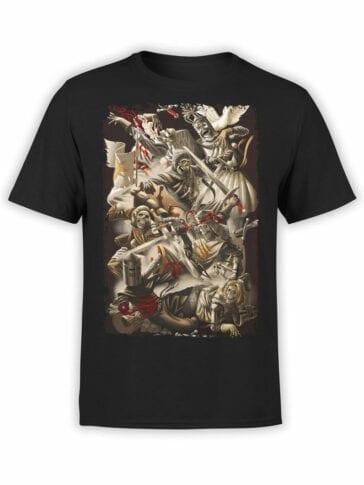 1009 Monty Python T Shirt Skeletons Front