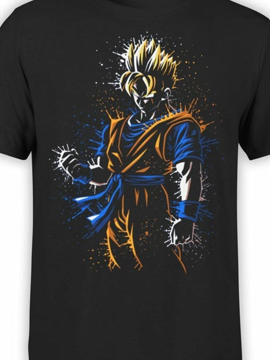 1010 Dragon Ball T Shirt Rage Front Color