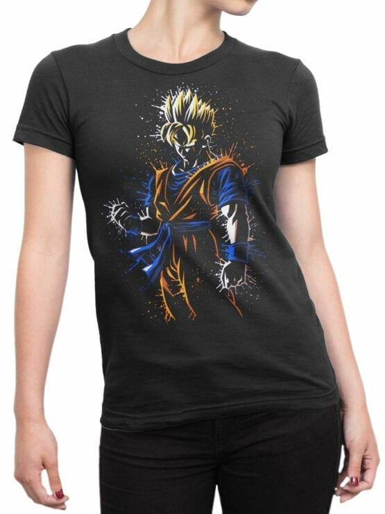 1010 Dragon Ball T Shirt Rage Front Woman