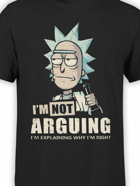 1012 Rick and Morty T Shirt Right Front Color