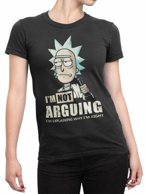 1012 Rick and Morty T Shirt Right Front Woman
