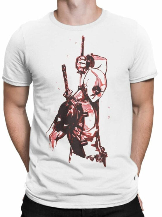 1017 Deadpool T Shirt Drawing Front Man