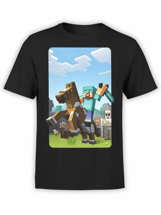 1018 Minecraft T Shirt Rider Front